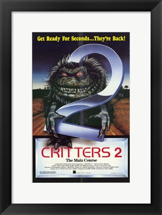 Framed Critters 2 Main Course Print