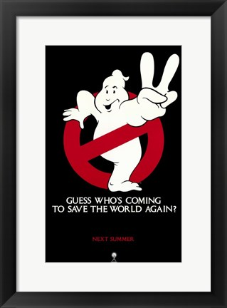 Framed Ghostbusters 2 Logo Print