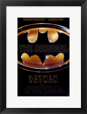 Framed Batman The Original Print
