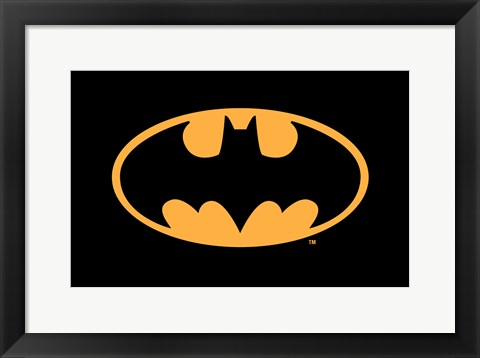 Framed Batman Logo Print