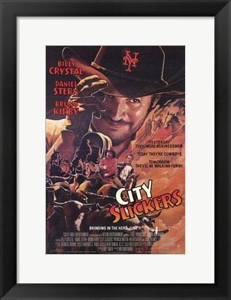 Framed City Slickers Print