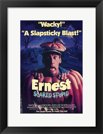 Framed Ernest Scared Stupid Print