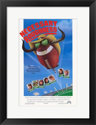 Framed Necessary Roughness Print