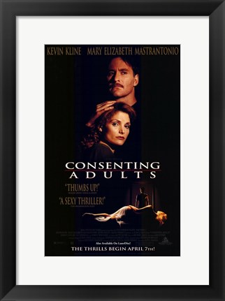Framed Consenting Adults Print