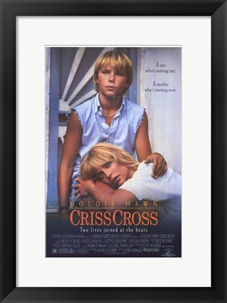 Framed Criss Cross Print