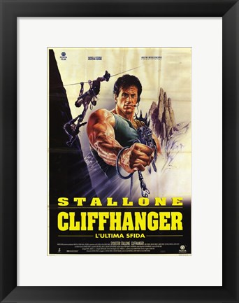 Framed Cliffhanger Spanish Print