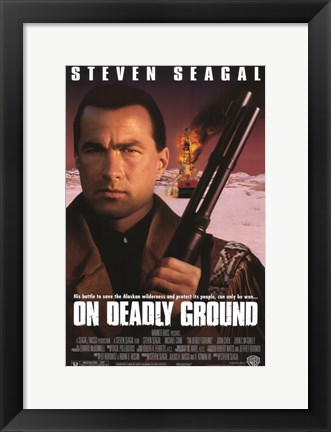 Framed On Deadly Ground Print