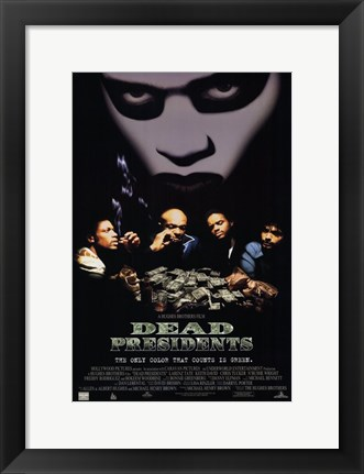 Framed Dead Presidents Green Print
