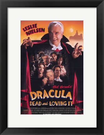 Framed Dracula Dead and Loving It Print