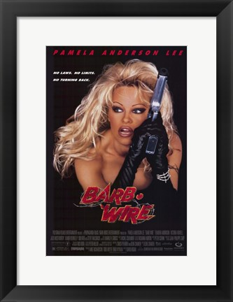 Framed Barb Wire - style D Print