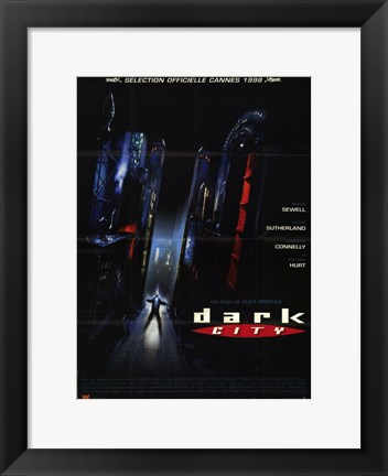 Framed Dark City - black Print
