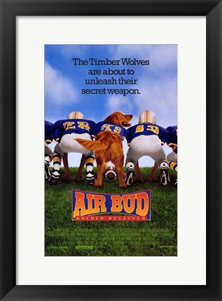 Framed Air Bud: Golden Receiver movie poster Print