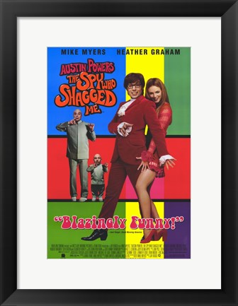 Framed Austin Powers 2: The Spy Who Shagged Me Print