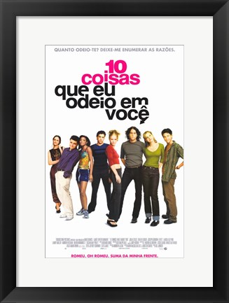 Framed Ten Things I Hate About You Portuguese Print