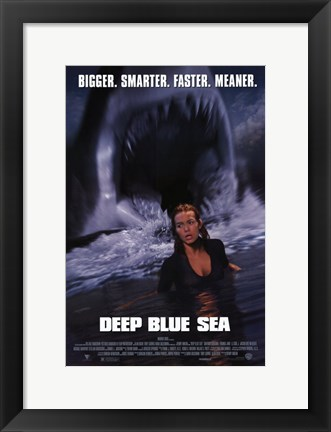 Framed Deep Blue Sea Print