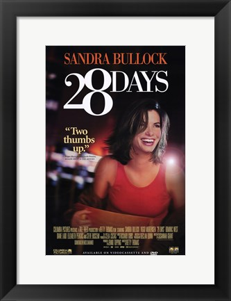 Framed 28 Days poster Print