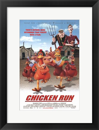 Framed Chicken Run Print