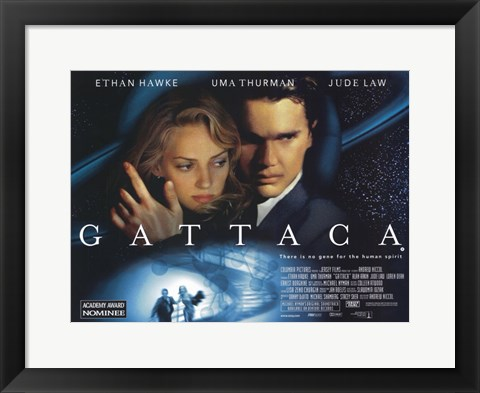 Framed Gattaca Hawke, Thurman & Law Print