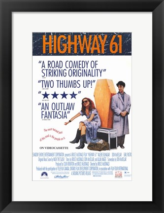 Framed Highway 61 Movie Print