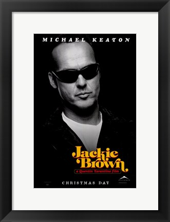 Framed Jackie Brown Michael Keaton Print