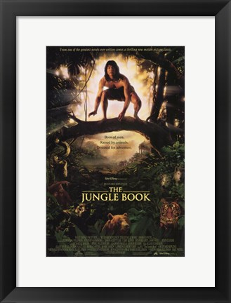 Framed Rudyard Kipling's The Jungle Book Print