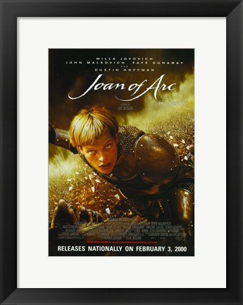 Framed Messenger: The Story of Joan of Arc By Luc Besson Print