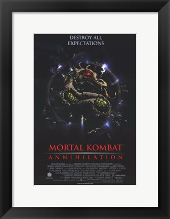 Framed Mortal Kombat 2: Annihilation Movie Print