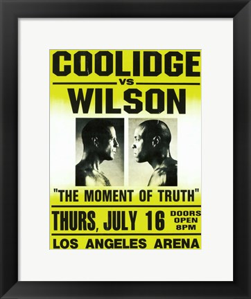 Framed Coolidge vs. Wilson Fight Print
