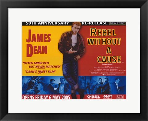 Framed Rebel Without a Cause Challenging of Today's Teenage Violence Print