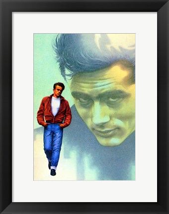 Framed Rebel Without a Cause Jame Dean Graphic Print
