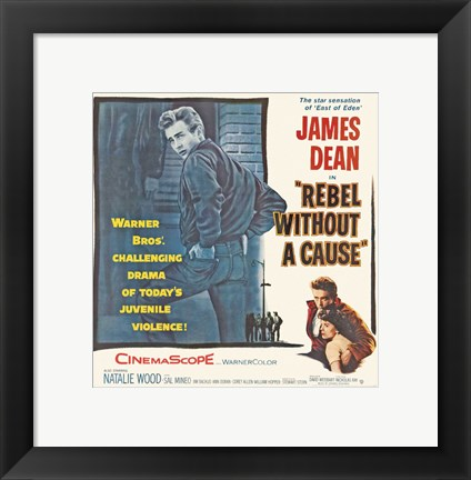 Framed Rebel Without a Cause The Star Sensation Print
