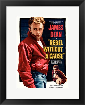 Framed Rebel Without a Cause and they both came from good families Print
