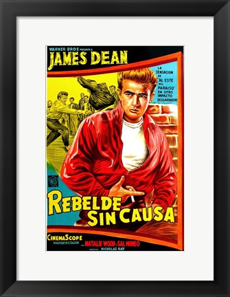 Framed Rebel Without a Cause Bright Print