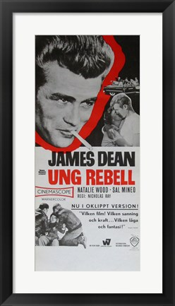 Framed Rebel Without a Cause Black and White Print