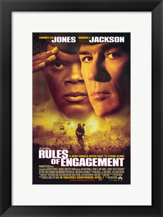 Framed Rules of Engagement Print