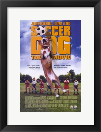Framed Soccer Dog Print