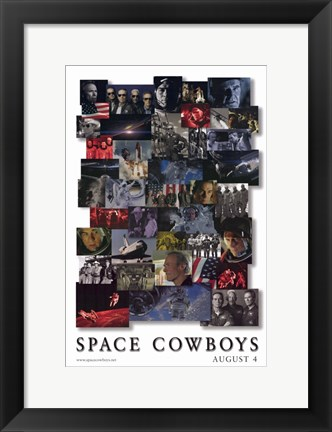 Framed Space Cowboys Print