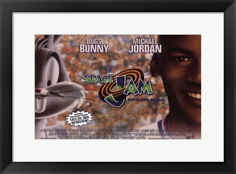 Framed Space Jam - Bugs and Michael Print