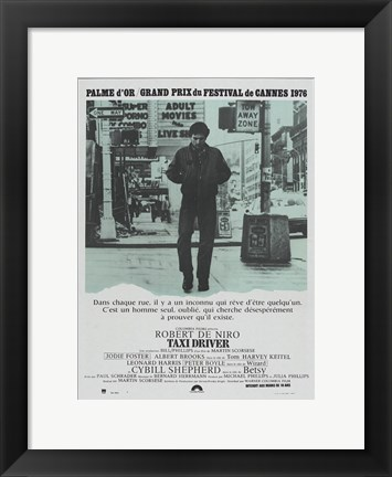 Framed Taxi Driver Washed Out Print