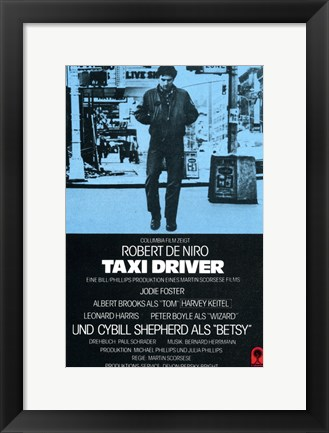Framed Taxi Driver Blue Print