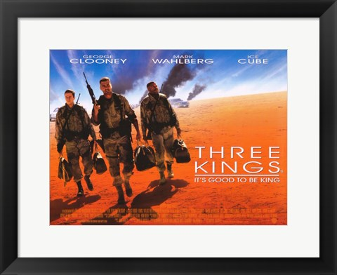 Framed Three Kings Movie Print