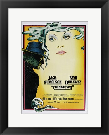 Framed Chinatown Art Deco Print