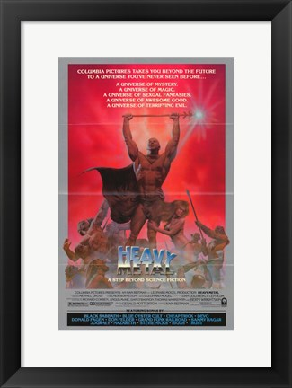 Framed Heavy Metal Champion Print