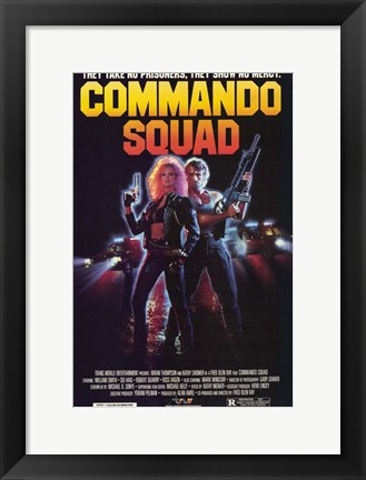Framed Commando Squad Print