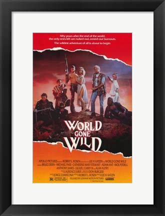Framed World Gone Wild Print