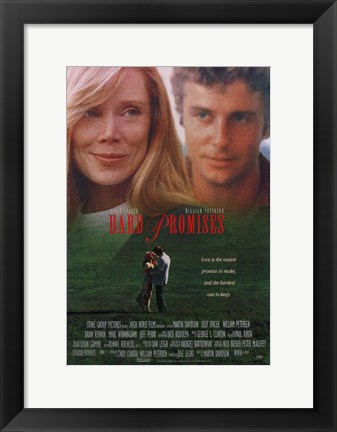 Framed Hard Promises Print