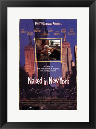 Framed Naked in New York Print