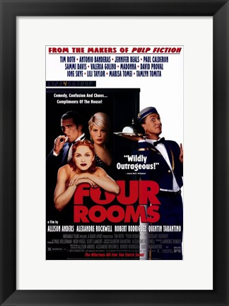 Framed Four Rooms Banderas Beals And Madonna Print
