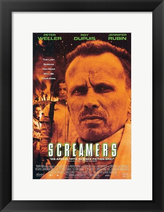 Framed Screamers - Peter Weller Print