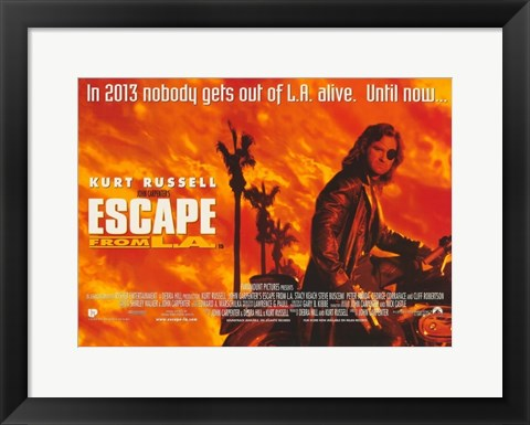 Framed Escape From L.A. Print